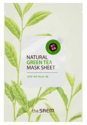 Маска тканевая с экстрактом зеленого чая THE SAEM Natural Green Tea Mask Sheet 21мл: фото