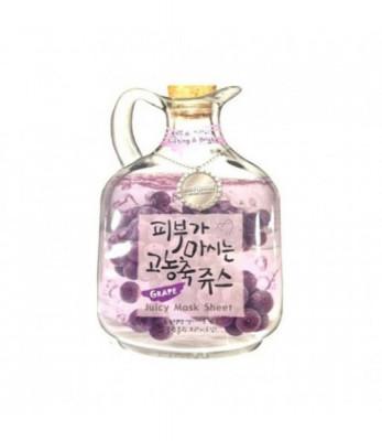 Маска тканевая с виноградом Baviphat Grape Juicy Mask Sheet Lifting & Bright 23гр: фото