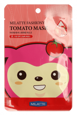 Тканевая маска с экстрактом томата Milatte Fashiony Tomato Mask Sheet: фото