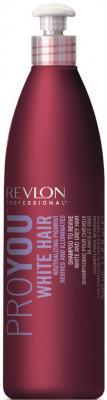 Шампунь для здоровья и блеска седых и обесцвеченных волос Revlon Professional PROYOU WHITE HAIR 350 мл: фото