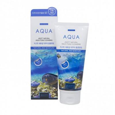 Пенка для умывания с аквамарином JIGOTT Natural Aqua Foam Cleansing 180мл: фото