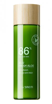 Эмульсия для лица увлажняющая с алоэ THE SAEM Jeju Fresh Aloe Emulsion 155мл: фото