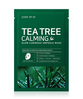 Маска тканевая успокаивающая с чайным деревом SOME BY MI Tea Tree Calming Glow Luminous Ampoule Mask: фото