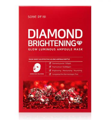 Маска тканевая осветляющая SOME BY MI Diamond Brightening Calming Glow Luminous Ampoule Mask 25г: фото