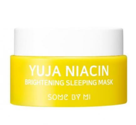 Ночная маска для лица с экстрактом юдзу SOME BY MI YUJA NIACIN BRIGHTENING SLEEPING MASK (mini) 15гр: фото