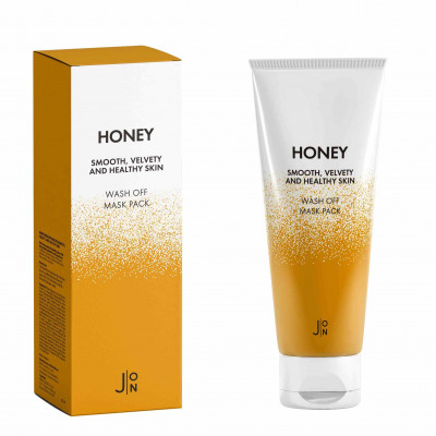Маска для лица МЕД J:ON Honey Smooth Velvety and Healthy Skin Wash Off Mask Pack 50г: фото