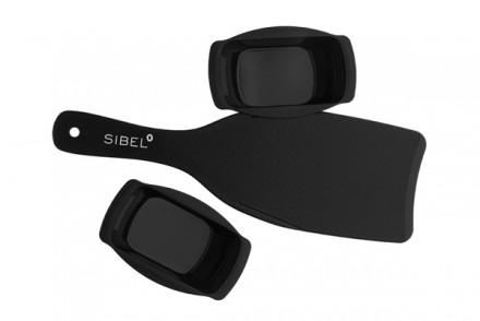 Лопатка для окрашивания Sibel черная 33*10,5см + 2 лотка 100мл: фото