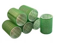 Бигуди на липучке Sibel 48мм зеленые 6шт: фото