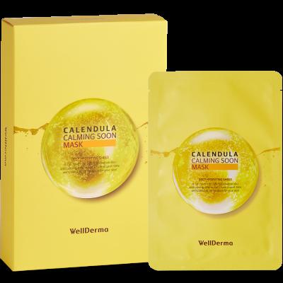 Набор тканевых масок для лица КАЛЕНДУЛА WELLDERMA Calendula Calming Soon Mask 10шт*30мл: фото