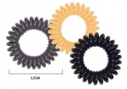 Набор спиральных резинок для волос Sibel Natural 3шт: фото