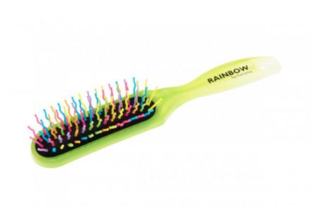 Щётка для волос узкая Harizma Professional Rainbow спелый лайм: фото