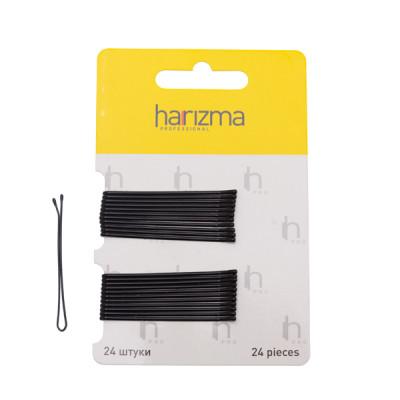 Невидимки прямые Harizma Professional 50мм 24шт черные: фото