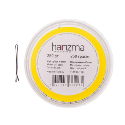 Невидимки прямые Harizma Professional 40мм 250г черные: фото