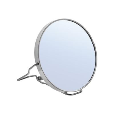 Зеркало двустороннее в металлической оправе Harizma Professional 11см: фото