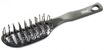 Щетка для укладки волос продувная EUROSTIL черная: фото