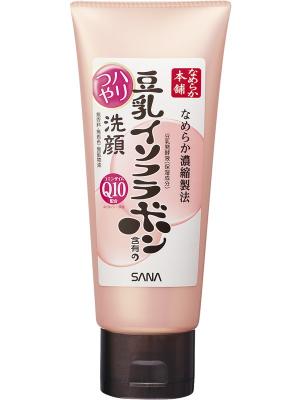 Пенка для умывания и снятия макияжа с изофлавонами сои Sana Soy milk moisture cleansing wash 150мл: фото