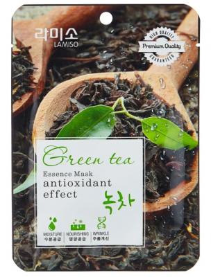 Маска с экстрактом зеленого чая La Miso Essence Mask premium quality Green tea 23г: фото