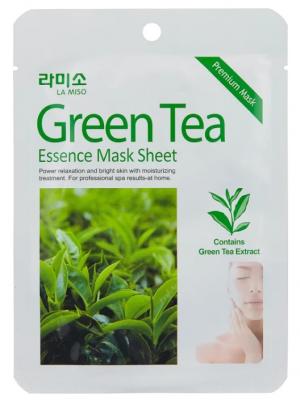 Маска с экстрактом зеленого чая La Miso Green tea essence mask sheet 21г: фото