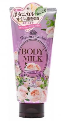 Молочко для тела питательное с ароматом розы Kose Precious garden body milk rose 200г: фото