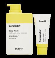 Гель для душа+лосьон с керамидами Dr.Jart+ Ceramidin body lotion and body wash 250мл+30мл: фото