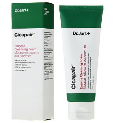Пенка для лица энзимная с центеллой Dr.Jart+ Cicapair enzyme cleansing foam 100мл: фото