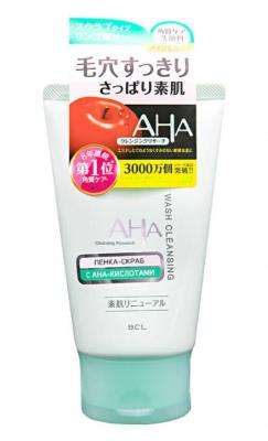 Пенка-скраб для лица очищающая с фруктовыми кислотами BCL Aha wash cleansing 120г: фото