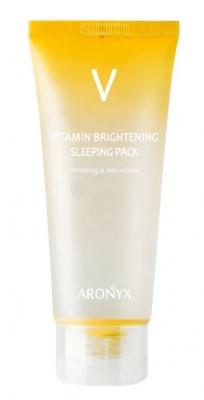 Маска ночная тонизирующая с витамином С MediFlower Aronyx Vitamin brightening sleeping pack 100мл: фото